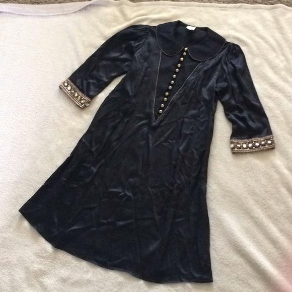 Lauren Moffatt Dresses & Skirts - Lauren Moffatt Black 100% Silk Dress Size 2